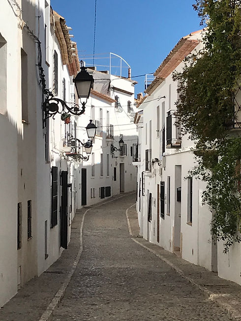 Picturesque Altea cobbled street