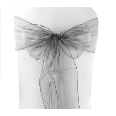 ORGANZA SASHES - GREY, ORANGE, PINK & RED