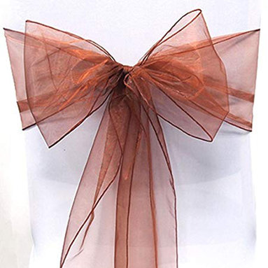 ORGANZA SASHES - BROWN & GREEN