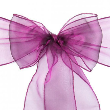 ORGANZA SASHES - PURPLE, WHITE & YELLOW