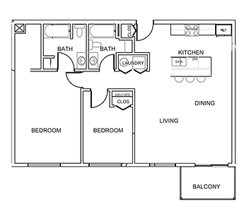 Pleasantview Place apartment 2 bedroom 2 bath