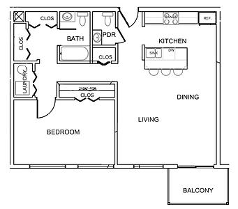 Pleasantview Place apartments1 bedroom 1.5 bath