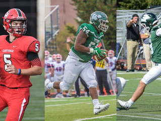 CARTHAGE'S FRIBERG, ILLINOIS WESLEYAN'S DUBOSE AND SCIARINI NAMED CCIW FOOTBALL PLAYERS OF T