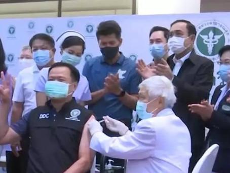 【タイでワクチン接種始まる 医療従事者ら約200人】