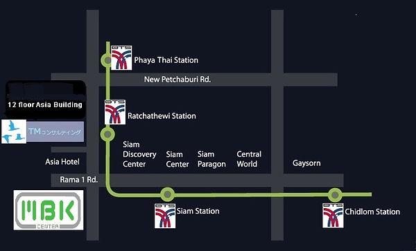 タイTMコンサルティング シーロムへのアクセス用地図