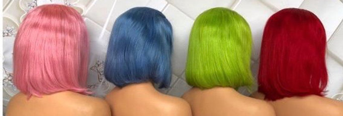 Colored Frontal Bob Wig