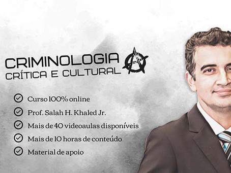 Salah H. Khaled Jr. lança curso online Criminologia Crítica e Cultural