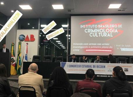 Salah H. Khaled Jr. palestra no I Congresso Estadual do IBCCRIM RS
