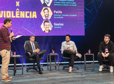 Salah H. Khaled Jr. discute Games x Violência no GG eSports Summit, nos estúdios da Rede Globo
