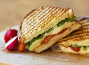 Turkey (or Vegetarian) and Roasted Pepper Panini