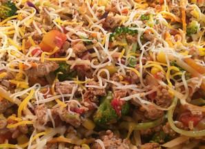 Mexican Turkey Veggie Skillet