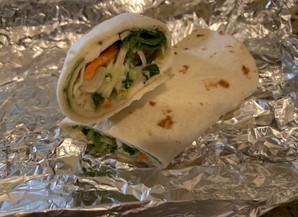 Chicken & Veggie Caesar Wraps