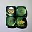 Thumbnail: 1px Gemini Black/Green/Gold Dice - Lotus Logo
