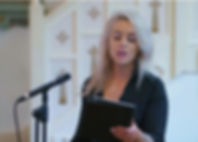 Yvonne singng live at a church ceremony