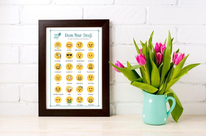 """Know Your Emoji Poster 11"""" x 17"""" (PDF)"""