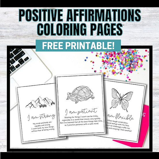 Affirmations Coloring Pages