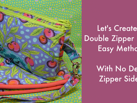 Let's Create a Double Zipper Pouch-Easy Method with No Dent Zipper Sides