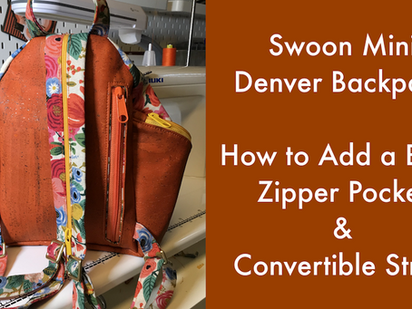 The Denver Mini Backpack by Swoon Sewing Patterns