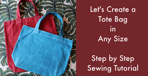 Let's Create a Tote Bag in Any Size