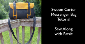 Carter Messenger Handbag by Swoon Sewing Patterns Company