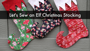 Let's Sew an Elf Christmas Stocking - Rosie and David Pattern