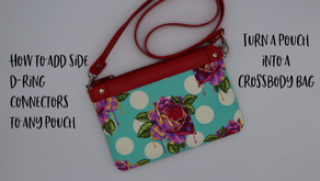 How to Add Side D-Ring Connectors to Any Pouch - Turn a Pouch Into a Crossbody Bag