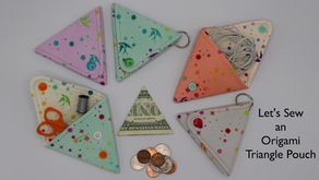 Let's Sew an Origami Triangle pouch