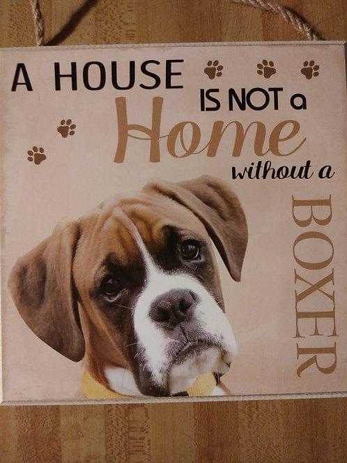 Personalized Boxer Plaque