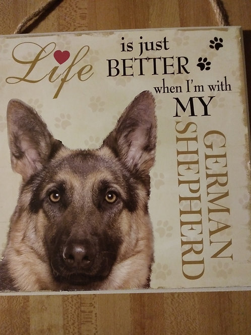 German Shepherd Personalized Plaque