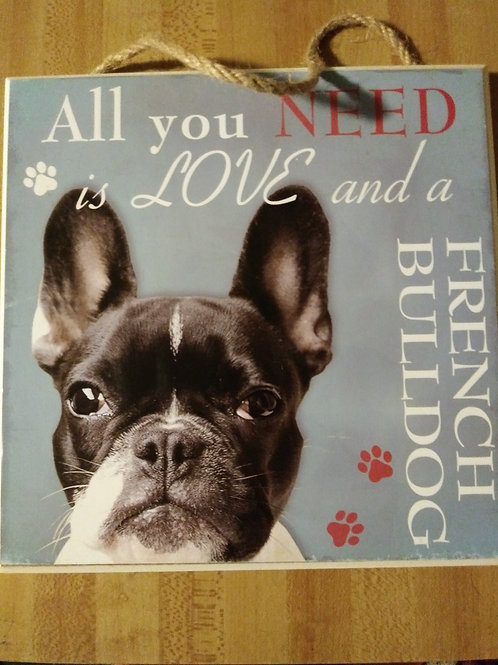 French Bulldog Personalized Plaque