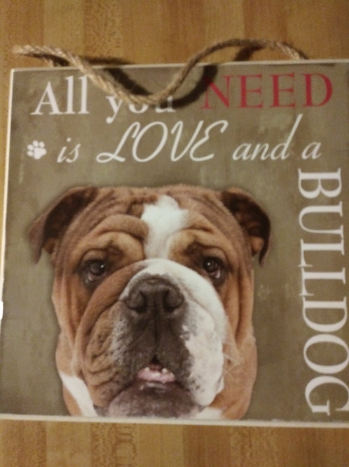 Bulldog Personalized Plaque