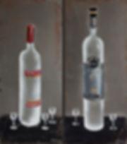 Антон Тотибадзе, натюрморт, водка / Anton Totibadze, still life, vodka