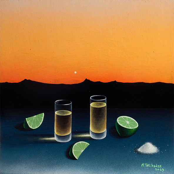 Антон Тотибадзе натюрморт, Anton Totibadze still life, Tequila sunset