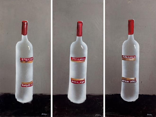 Антон Тотибадзе, бутылки, водка / Anton Totibadze, bottles, vodka