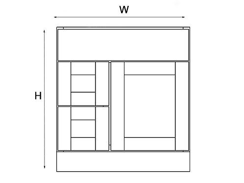 Vanity and Left Drawer Base VAD 30, 36