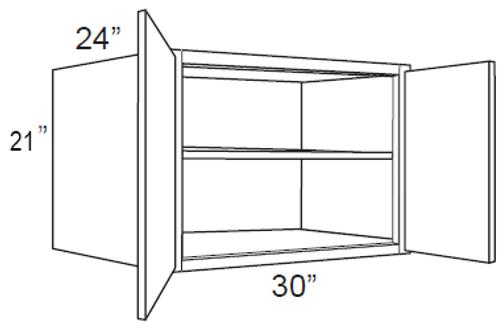"Bamboo Shaker 24"" Deep Wall Cabinets - 30W x 21H x 24D, W302124"