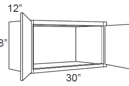 "Bamboo Shaker 12"" Deep Small Wall Cabinets - 30W x 18H x 12D, W3018"