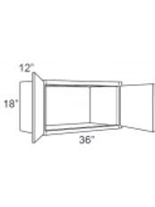 """Birch Shaker 12"""" Deep Small Wall Cabinets - 36W x 18H x 12D, W3618"""