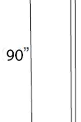 Cabinet Tall Filler - 3W x 90H, TF390