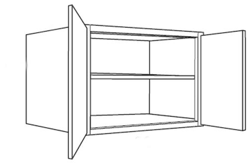 "Bamboo Shaker 24"" Deep Wall Cabinets - 36W x 21H x 24D, W362124"