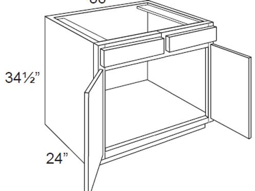 Bamboo Shaker Sink Base Cabinet - 36W x 34.5H, SB36