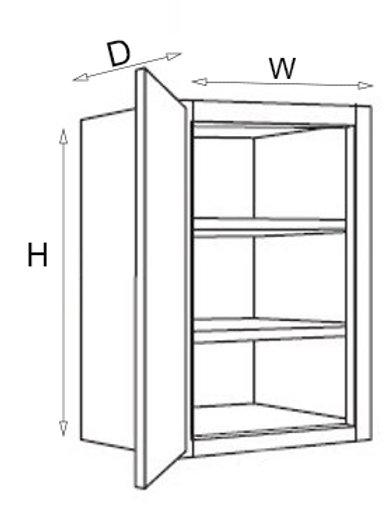 """30"""" High Single Door W06, 09, 12, 15, 18, 21"""