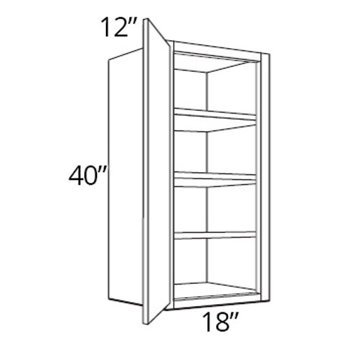 "Bamboo Shaker 40"" High Single Door - 18W x 40H x 12D, W1840"