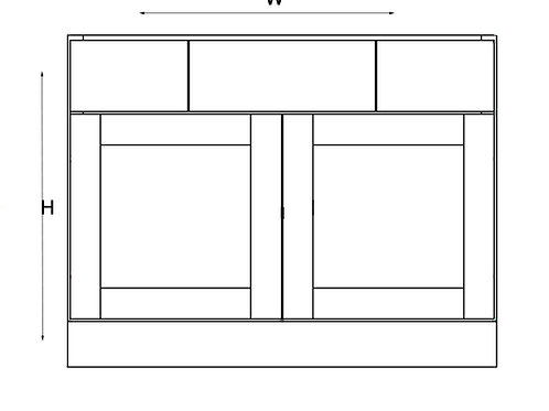 Vanity and Drawer Base VAD 42
