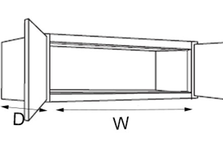 "12"" Deep Small Wall W3612, 15, 18, 21, 24"