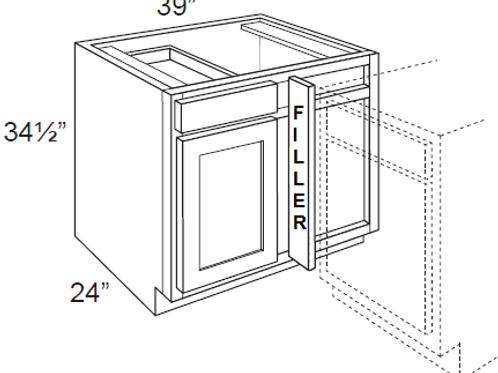 Birch Shaker Blind Corner Cabinet - 39W x 34.5H, BBC39