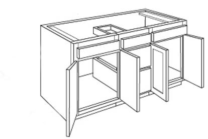 Bamboo Shaker Vanity Drawer Base Cabinet VAD6021