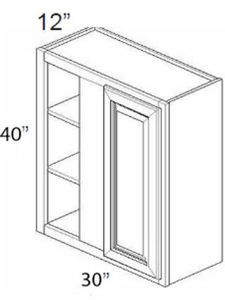 Bamboo Shaker Wall Blind Corner Cabinet - 30W x 40H, WBC3040