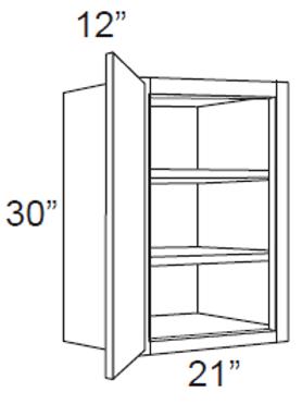 """30"""" High Single Door - 21W x 30H x 12D, W2130"""