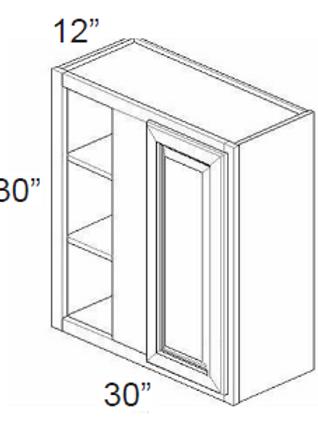 Birch Shaker Wall Blind Corner Cabinet - 30W x 30H, WBC3030